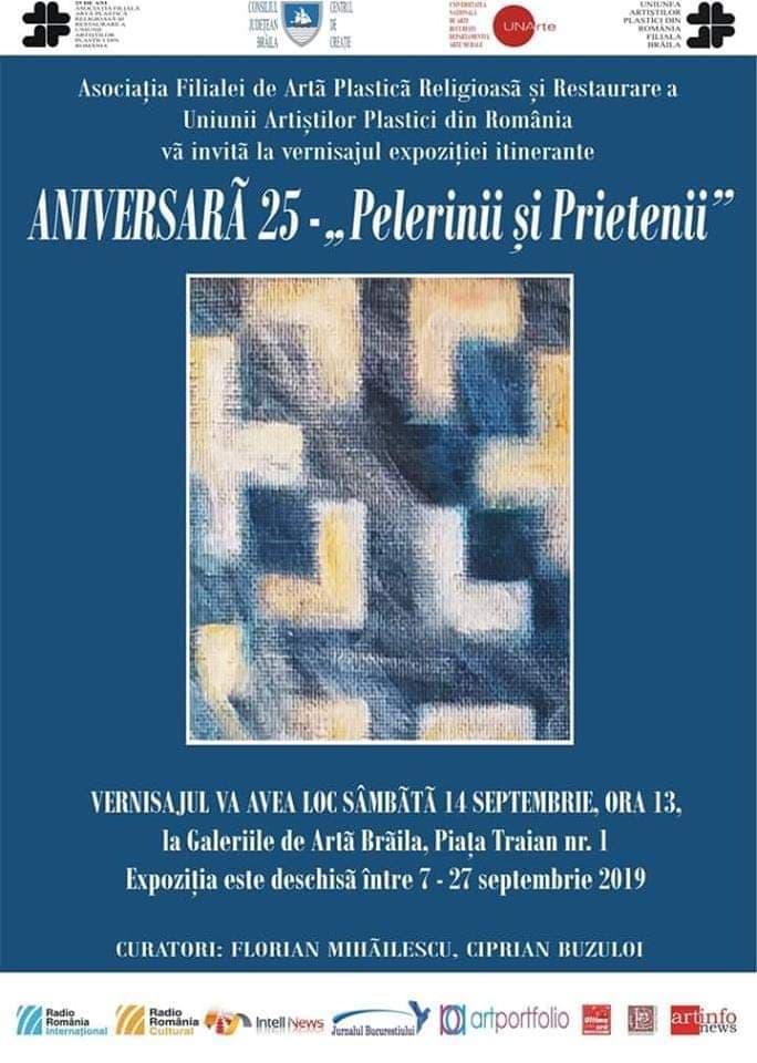 """Poster - Aniversară 25 - """"Pelerinii și Prietenii"""""""