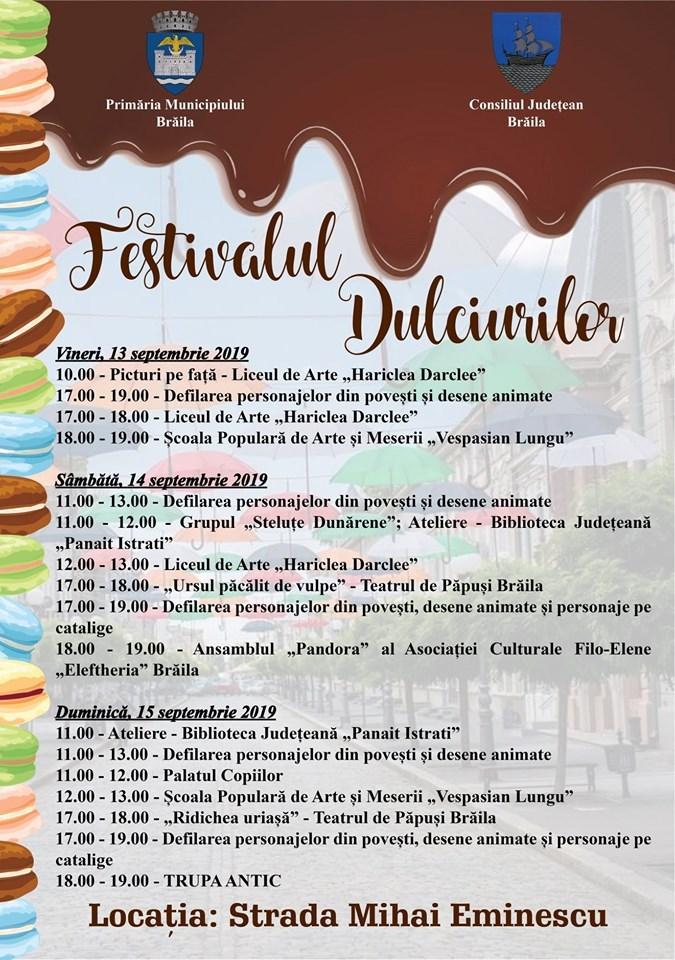 Festivalul Dulciurilor Program