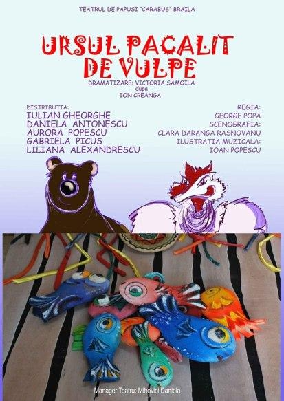 Poster - Ursul pacalit de vulpe