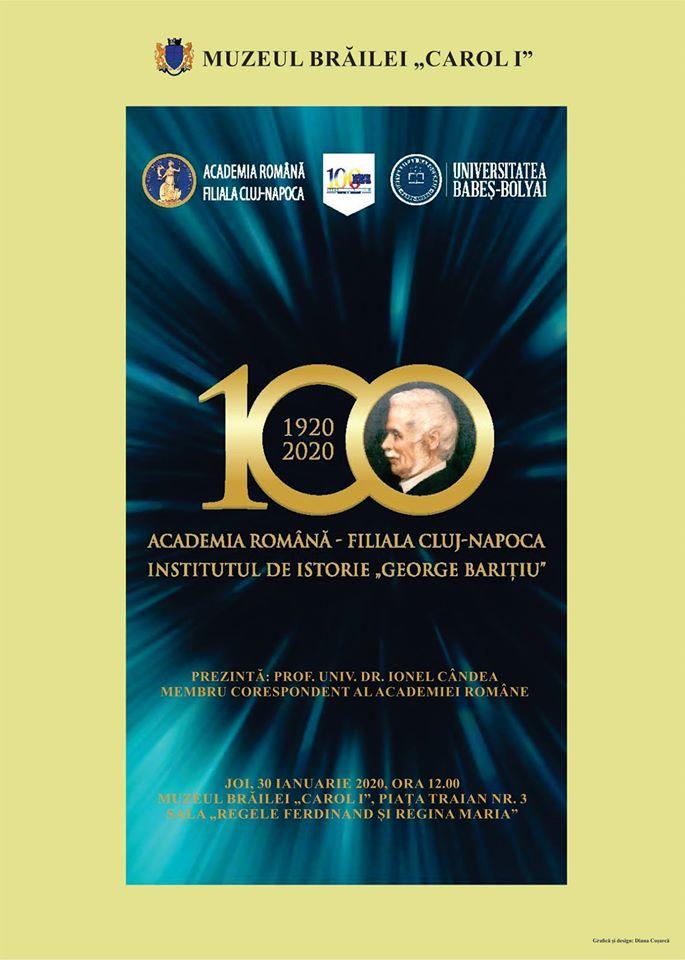 """Institutul de Istorie """"George Barițiu"""" la Centenar"""