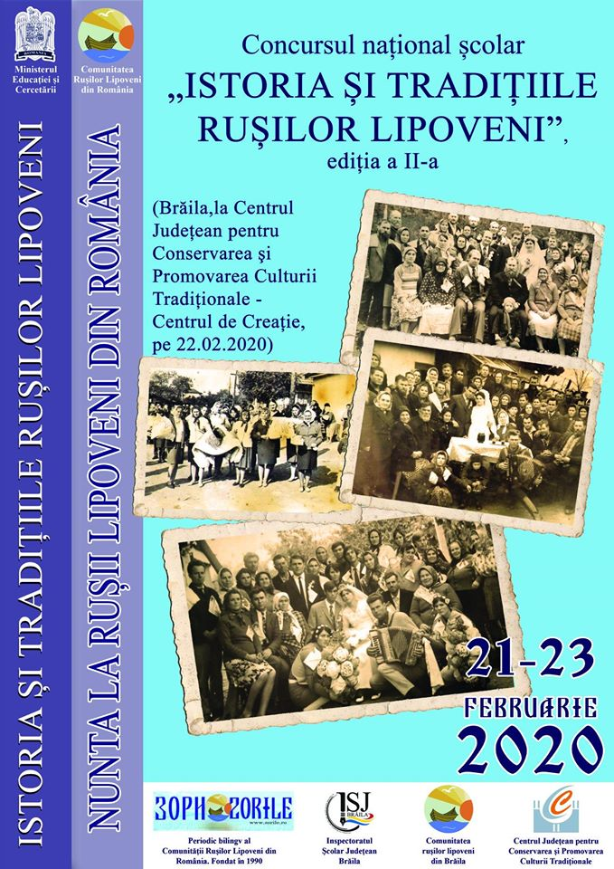 ",,Istoria și tradițiile rușilor lipoveni"" - Tema ""Nunta la Rușii Lipoveni"""