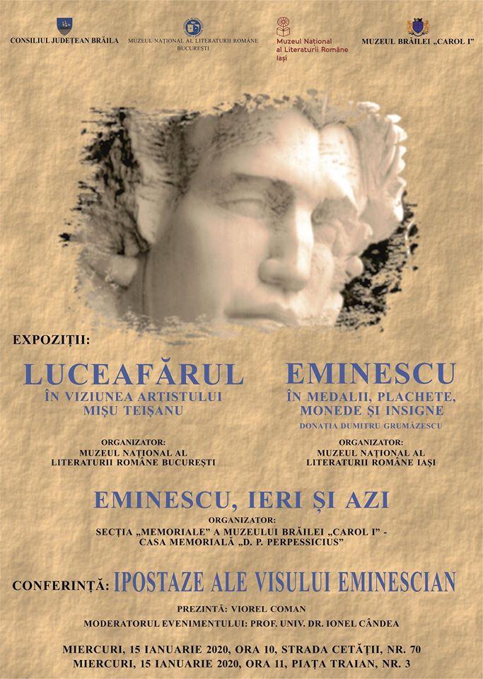 Manifestări dedicate poetului Mihai Eminescu și Zilei Culturii Naționale la Muzeul Brăilei.jpg