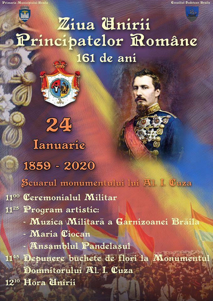 Programul manifestărilor prilejuite de aniversarea zilei de 24 Ianuarie 1859