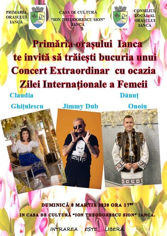 Concert Extraordinar, la Ianca, de 8 Martie