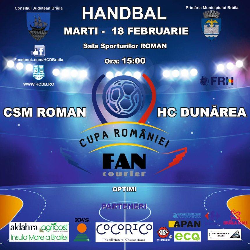 CSM Roman - HC Dunărea Brăila, Cupa României - Fan Courier
