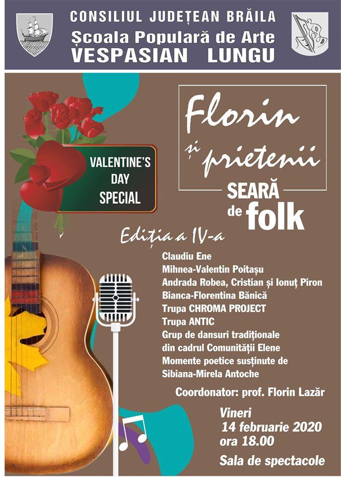"""""""Valentine's Day Special"""" - Seară de folk cu """"Florin şi prietenii"""""""