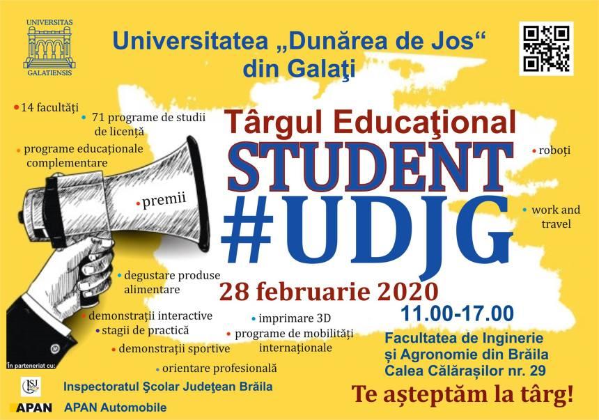 """Târgul educațional """"STUDENT #UDJG"""""""
