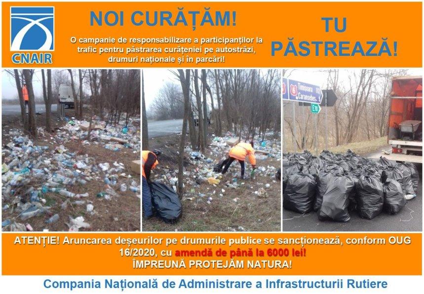 "Poster - Campania ""Noi curatam, tu pastreaza"""