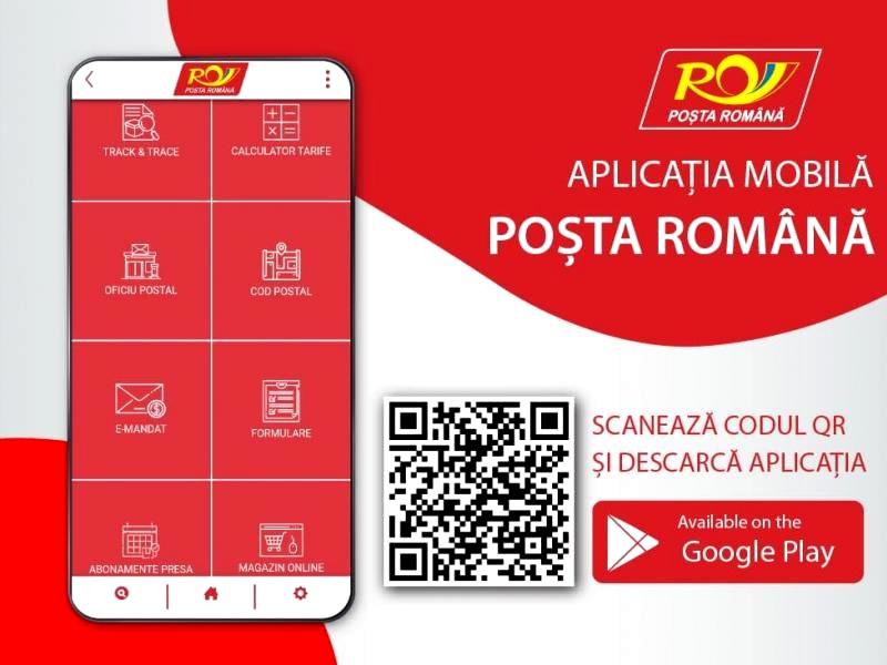 Posta Romana, aplicatie mobila