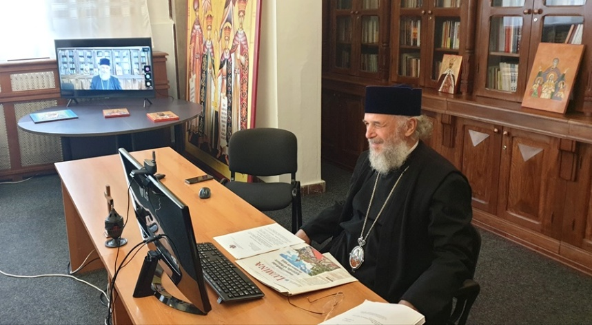 Videoconferinta, Centrul Eparhial al Arhiepiscopiei Dunarii de Jos, Inaltpreasfintitul Parinte Casian