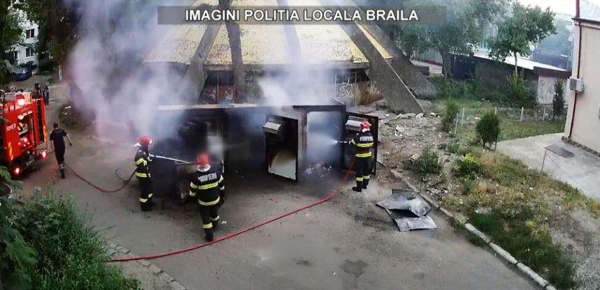 ISU Dunarea Braila, incendiu modul de colectare deseuri