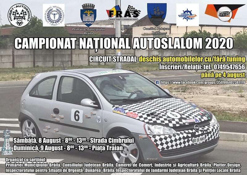 Afis - Campionatul National de Automobilism AUTOSLALOM 2020