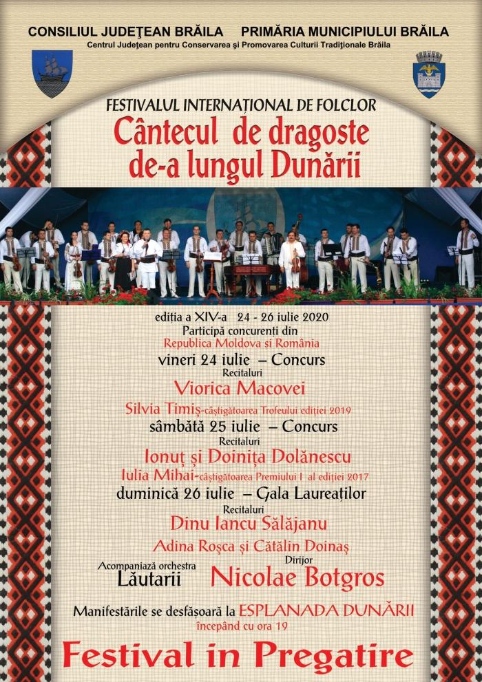 Afis - Festivalul International de Folclor Cantecul de dragoste de‐a lungul Dunarii (1)