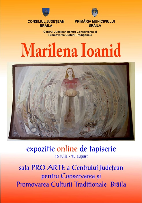 Afis - Marilena Ioanid, expozitie online de tapiserie