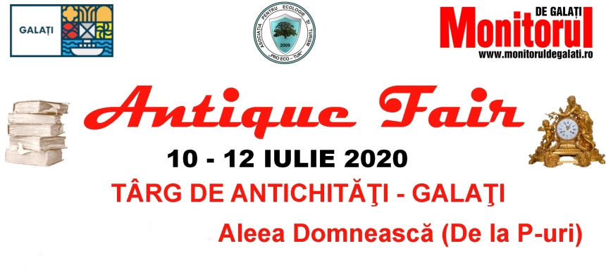 Afis - Targ de Antichitati Antique Fair Galati