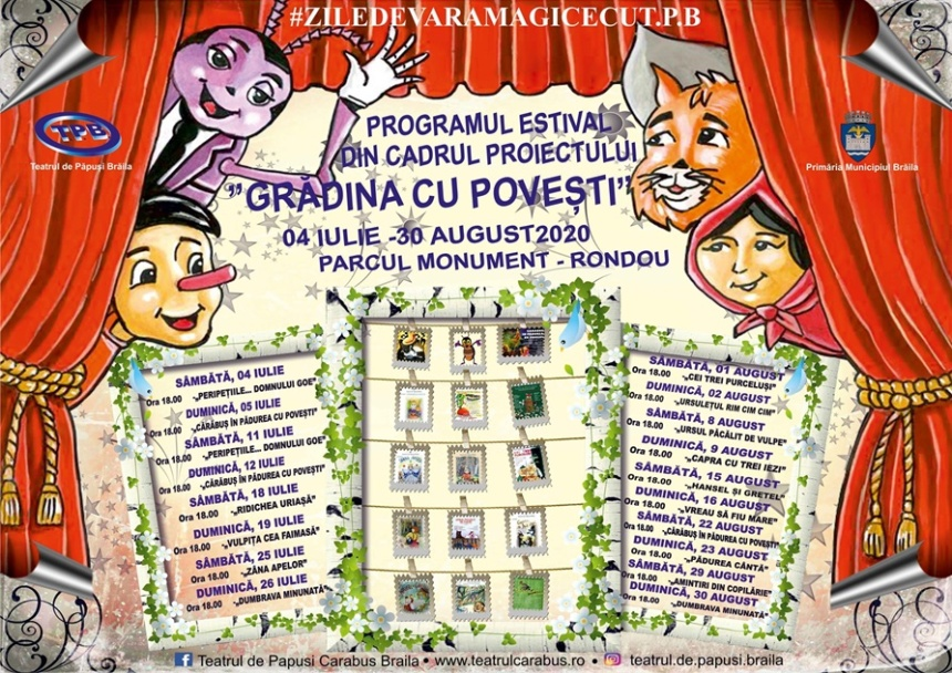 Afis - Teatrul de Papusi, program Gradina cu Povesti