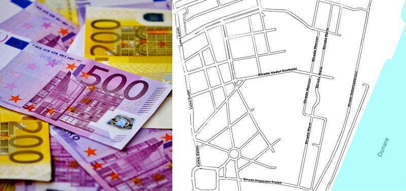 harta, bani, euro, braila